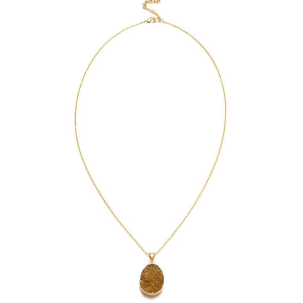 Rishima Druzy Drop Necklace - Citrine - Matr Boomie (Jewelry)