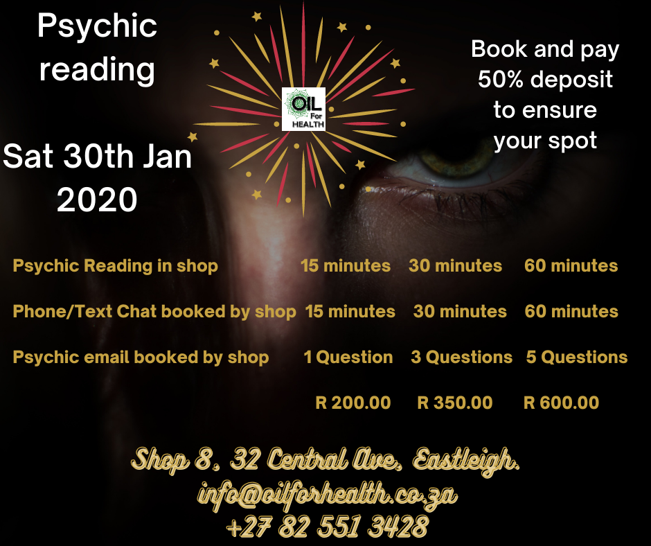 Psychic in store - bookings essential