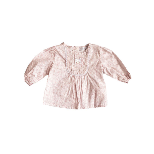 Light pink and white floral print Child Size = 0-1m Brand = patachou