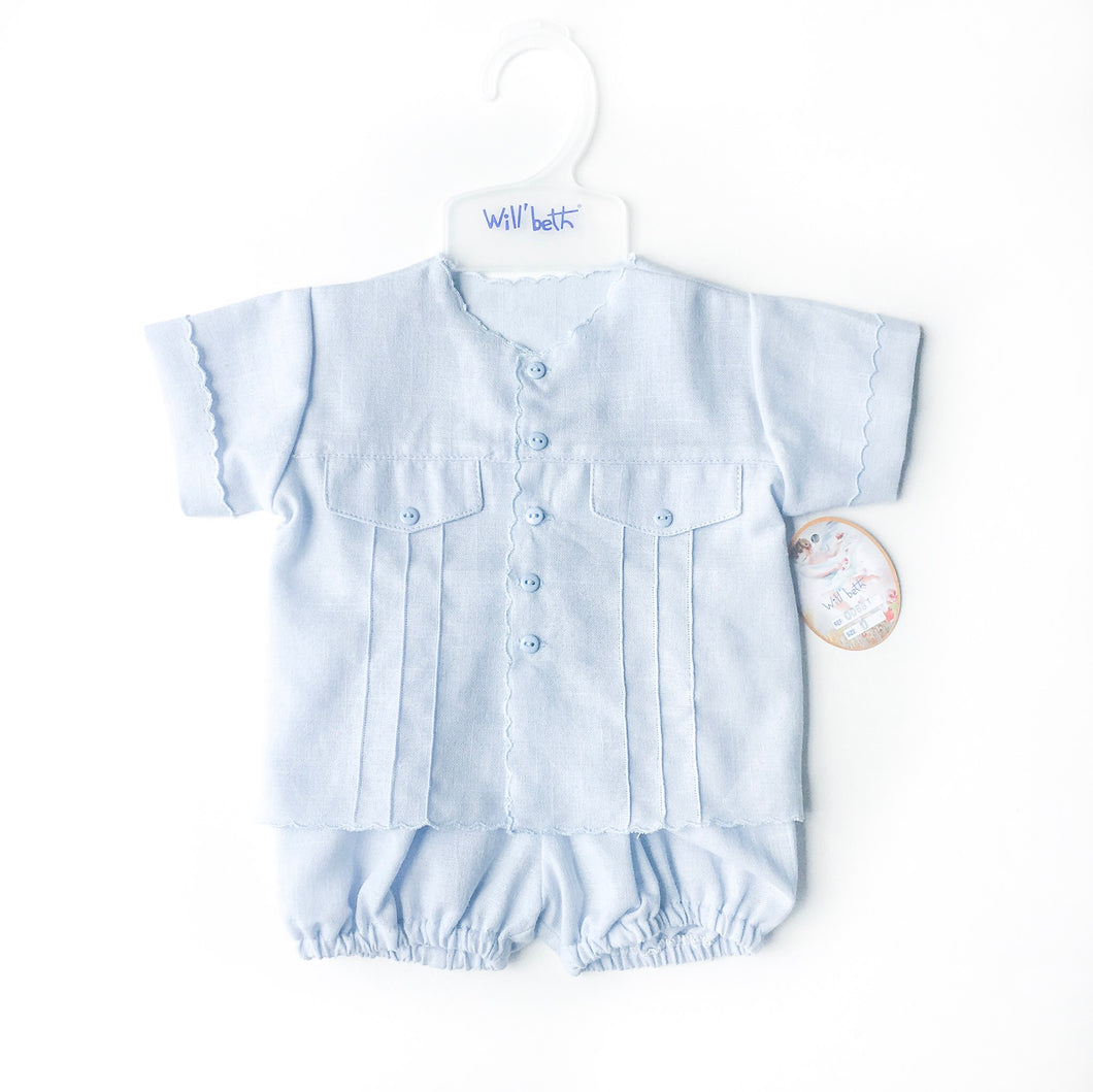 Willbeth Boy's Baby Blue Set