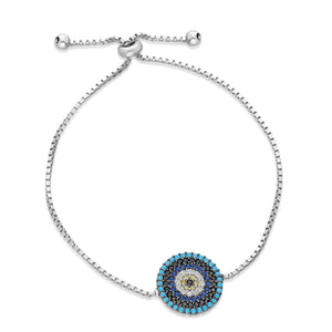 Mosaic Evil Eye Pulley Bracelet