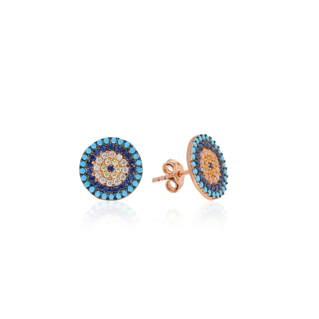Mosaic Evil Eye Earrings