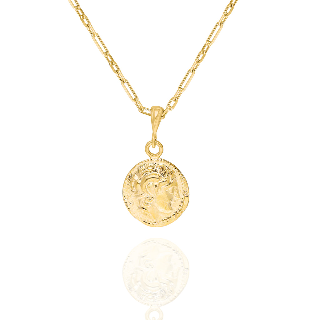 Small Roman Golden Coin Necklace