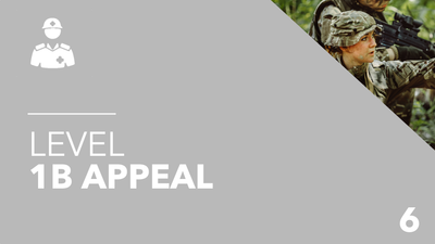 British Army Level 1b Appeal