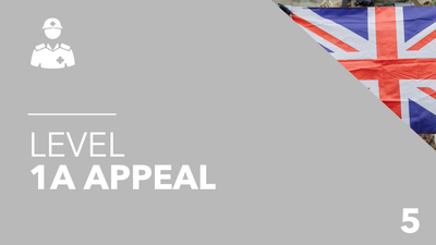 British Army Level 1a Appeal