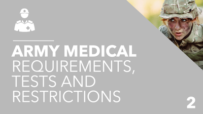 British Army Medical Requirements, Tests and Restrictions