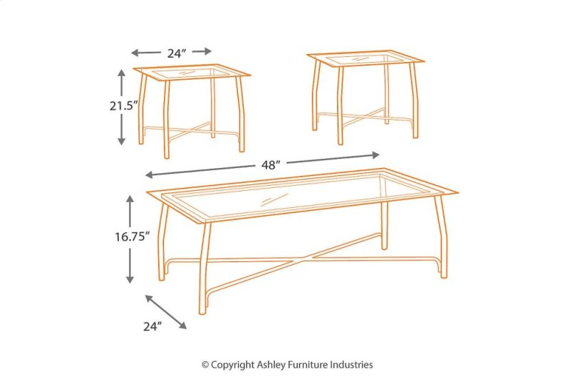 Table de salon Ashley Burmesque T004-13 3pcs