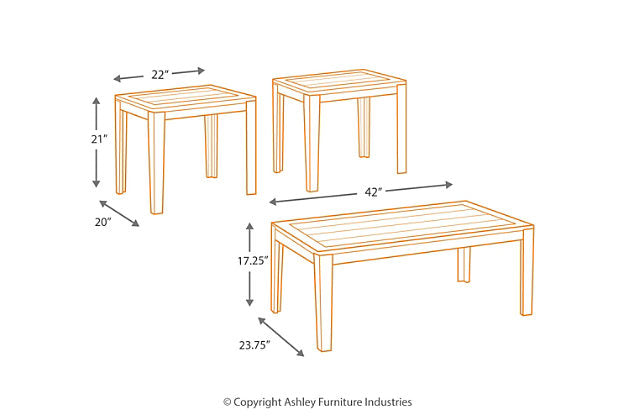 Table de salon Ashley Birstrom T227-13