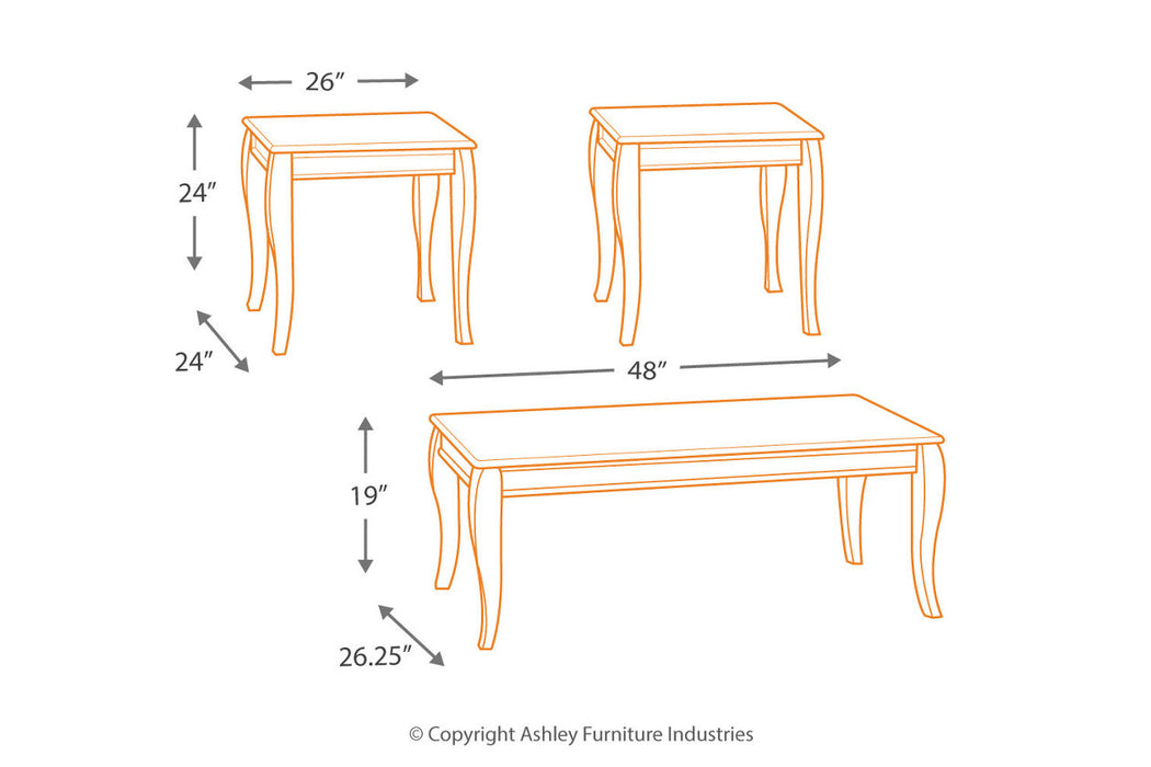 Table de salon Ashley Mattie T317-13 3pcs