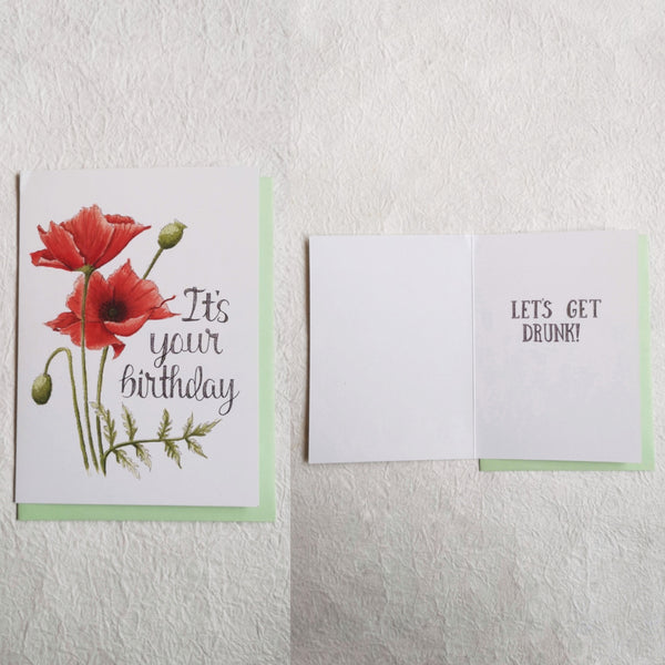 Naughty Florals Cards