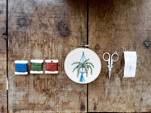 Hanging Planter Embroidery Workshop [June 13]