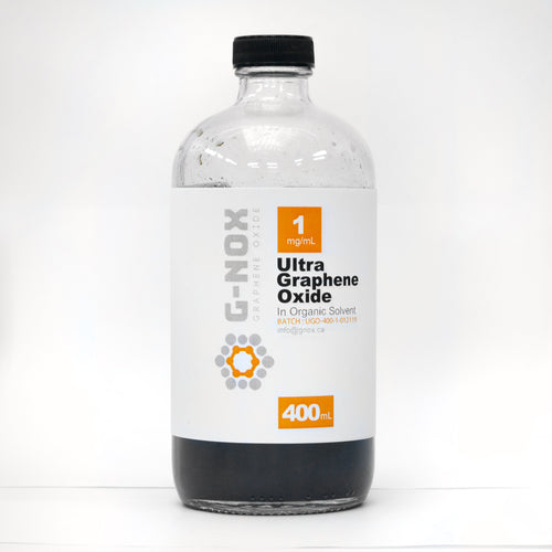 400 mL	G-NOX Ultra Graphene Oxide, 1 mg/mL Dispersion in Organic Solvent