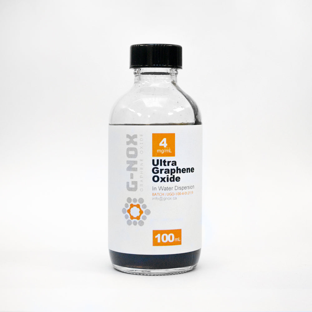 100 mL	G-NOX Ultra Graphene Oxide, 4 mg/mL Dispersion in H2O