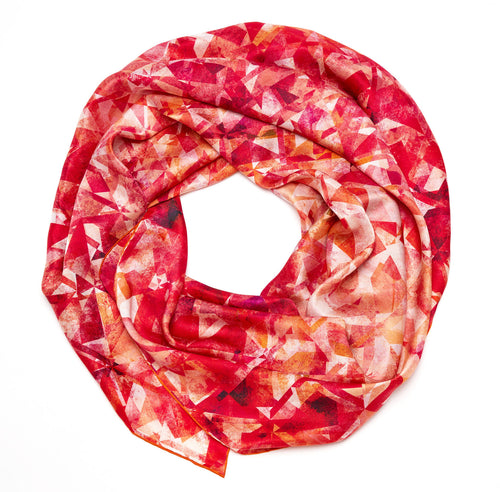 Flame Pure Silk Scarf
