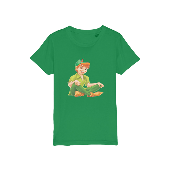peter pan Organic Jersey Kids T-Shirt