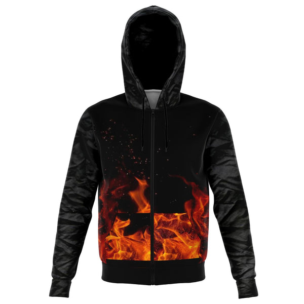 hoodie with zipper fire