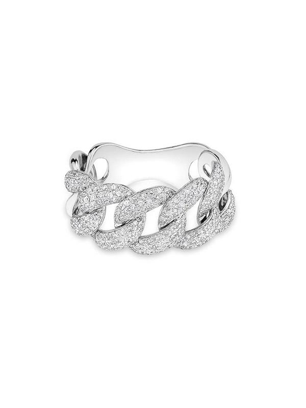 Diamond Chain Link Ring