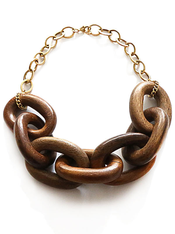 Wood Link Necklace