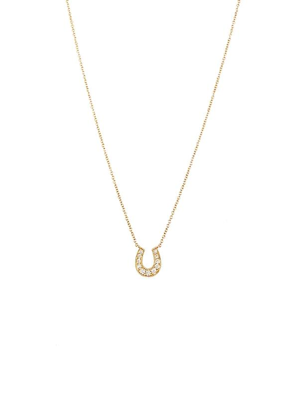 Diamond Horseshoe Pendant Necklace