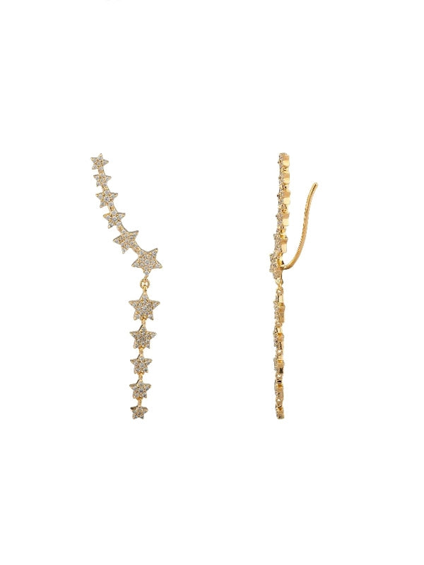 Star Ear Climber Earrings
