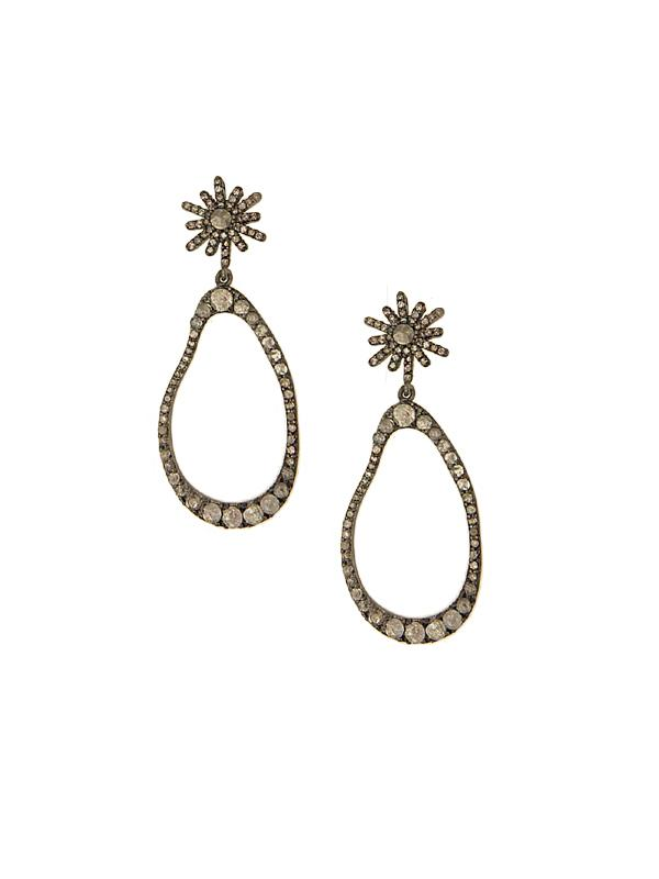 SALE Diamond Star Top Earrings