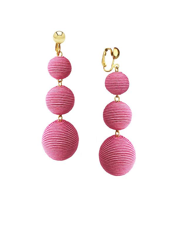 SALE Pink Disco Clip Earrings