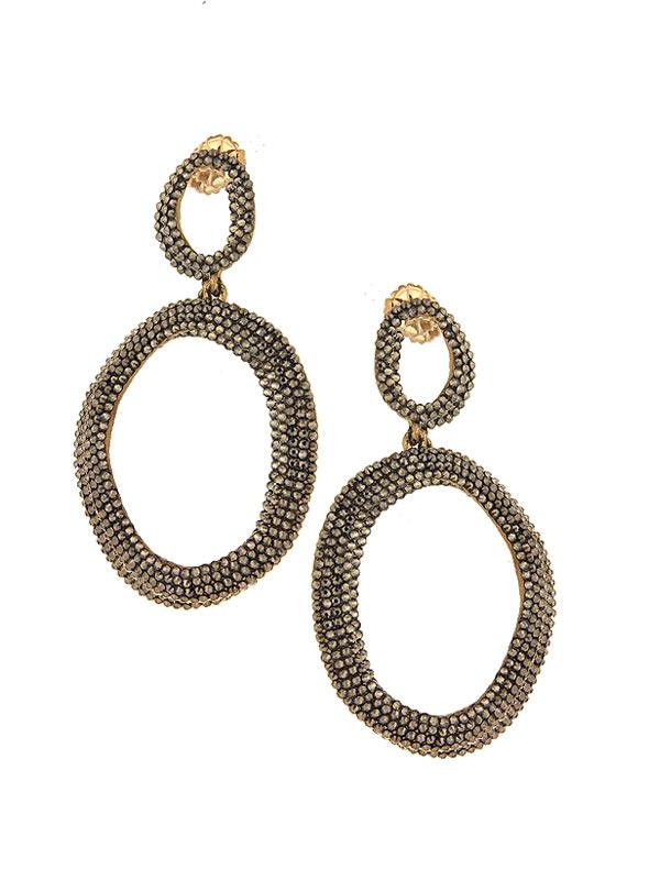 SALE Circle Drop Earrings
