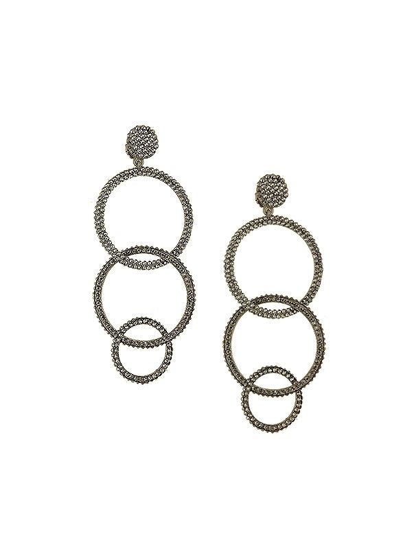 SALE Multi Circle Drop Earrings
