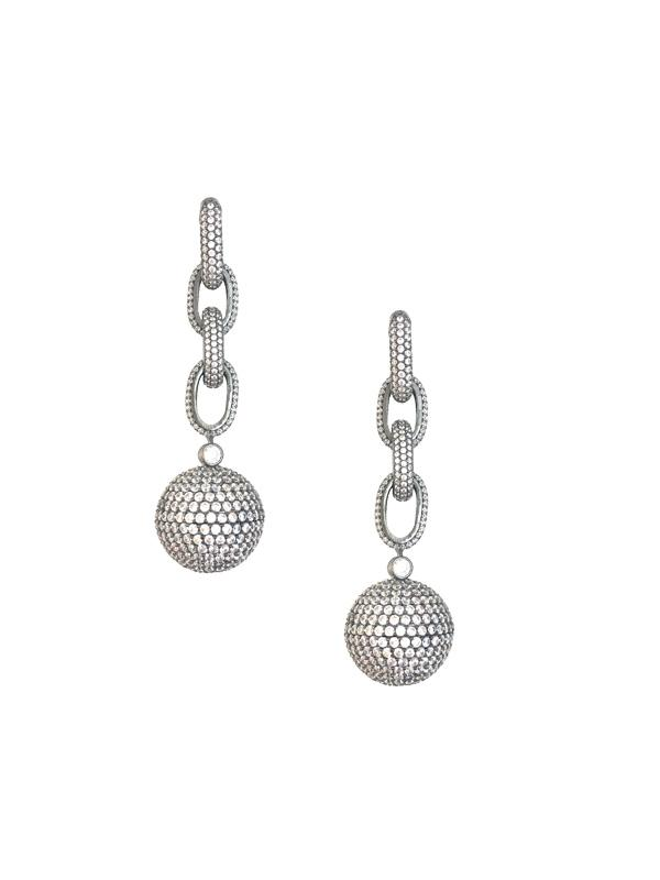 Link Ball Drop Earrings