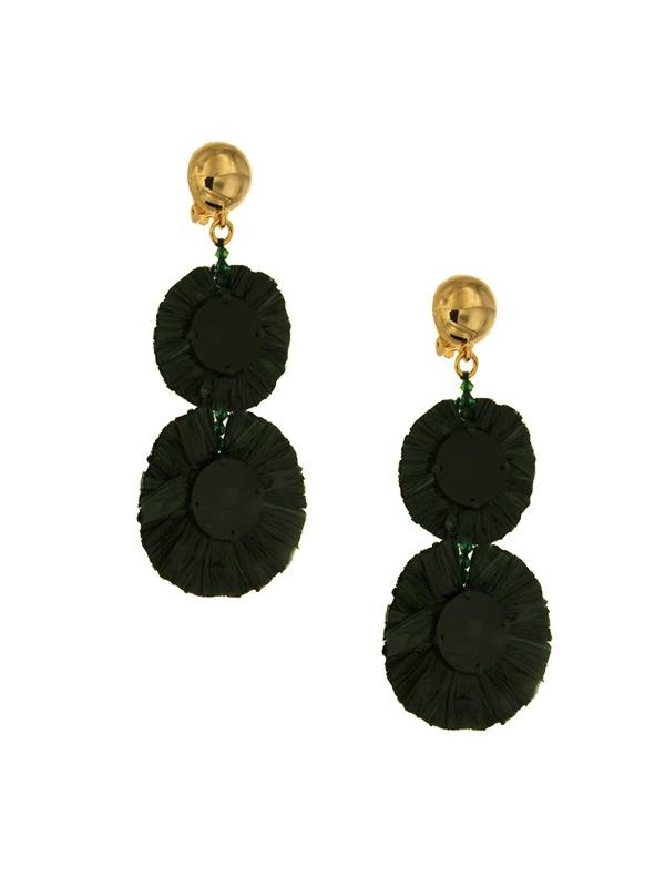 SALE Raffia Clip On Earrings