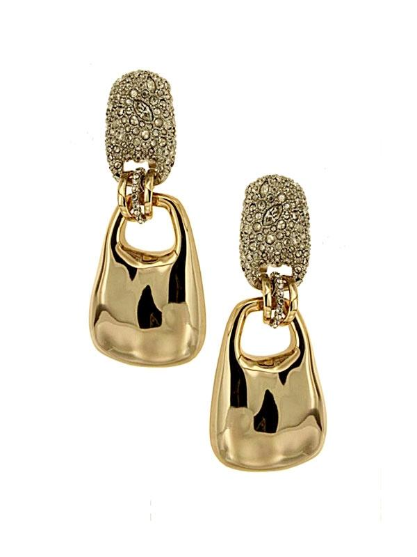 Metal Drop Clip On Earrings