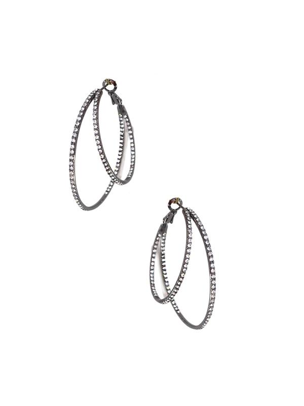 Double Pave Hoops