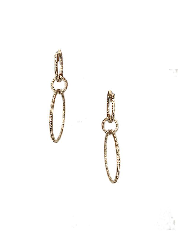 SALE Hoop Drop Earrings
