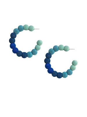 SALE Blue Ombre Large Hoops
