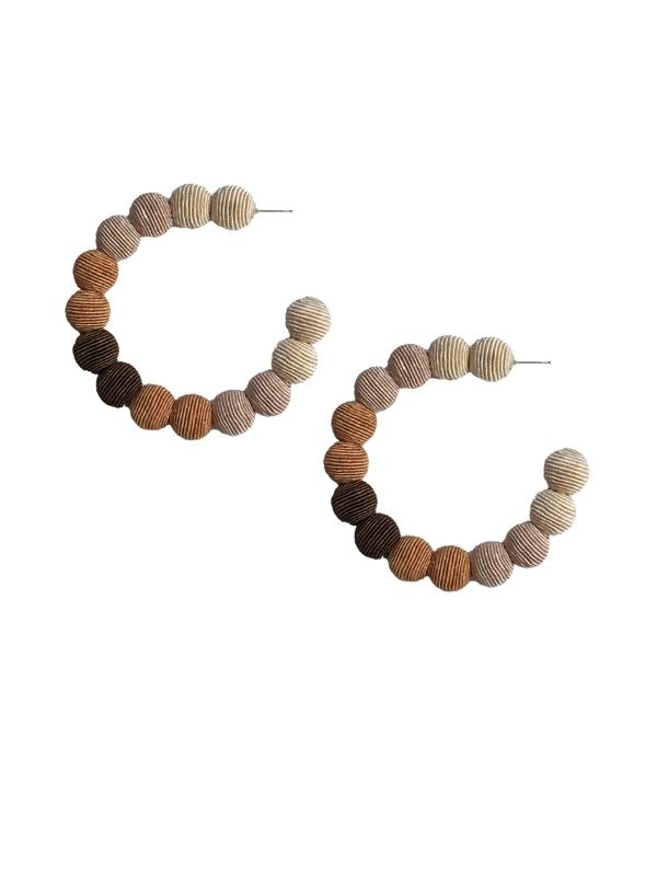Beige Ombre Small Hoops