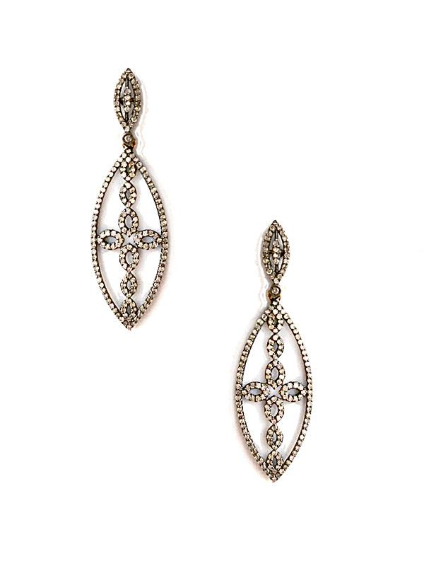 SALE Diamond Cross Earrings