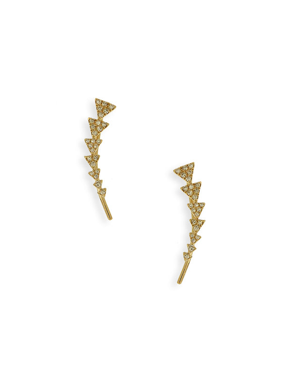 Diamond Ear Cuff Earrings