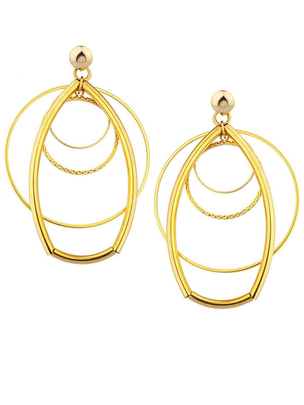SALE Geometric Concentric Earrings
