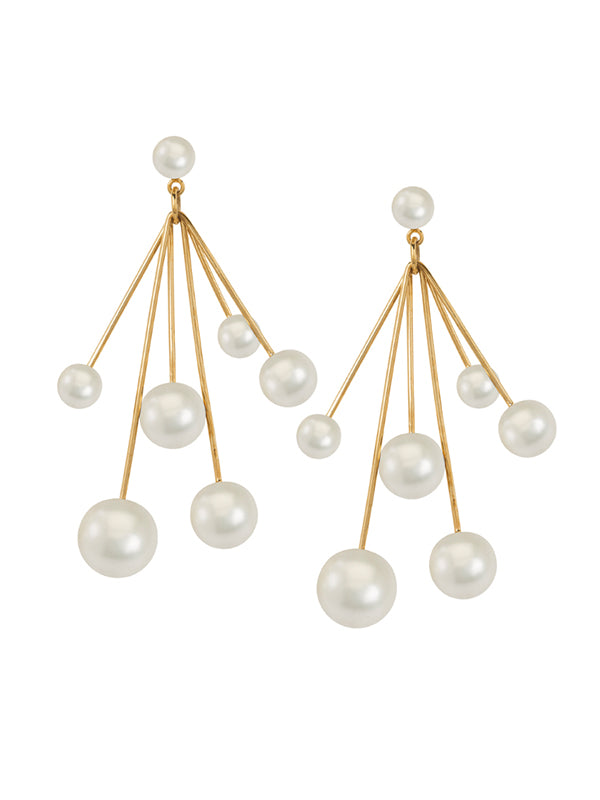 Pearl Chandelier Drop Earrings
