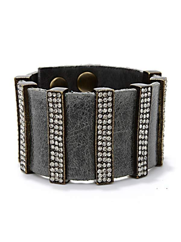 Crystal & Leather Bracelet