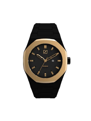 Unisex Black & Gold Watch