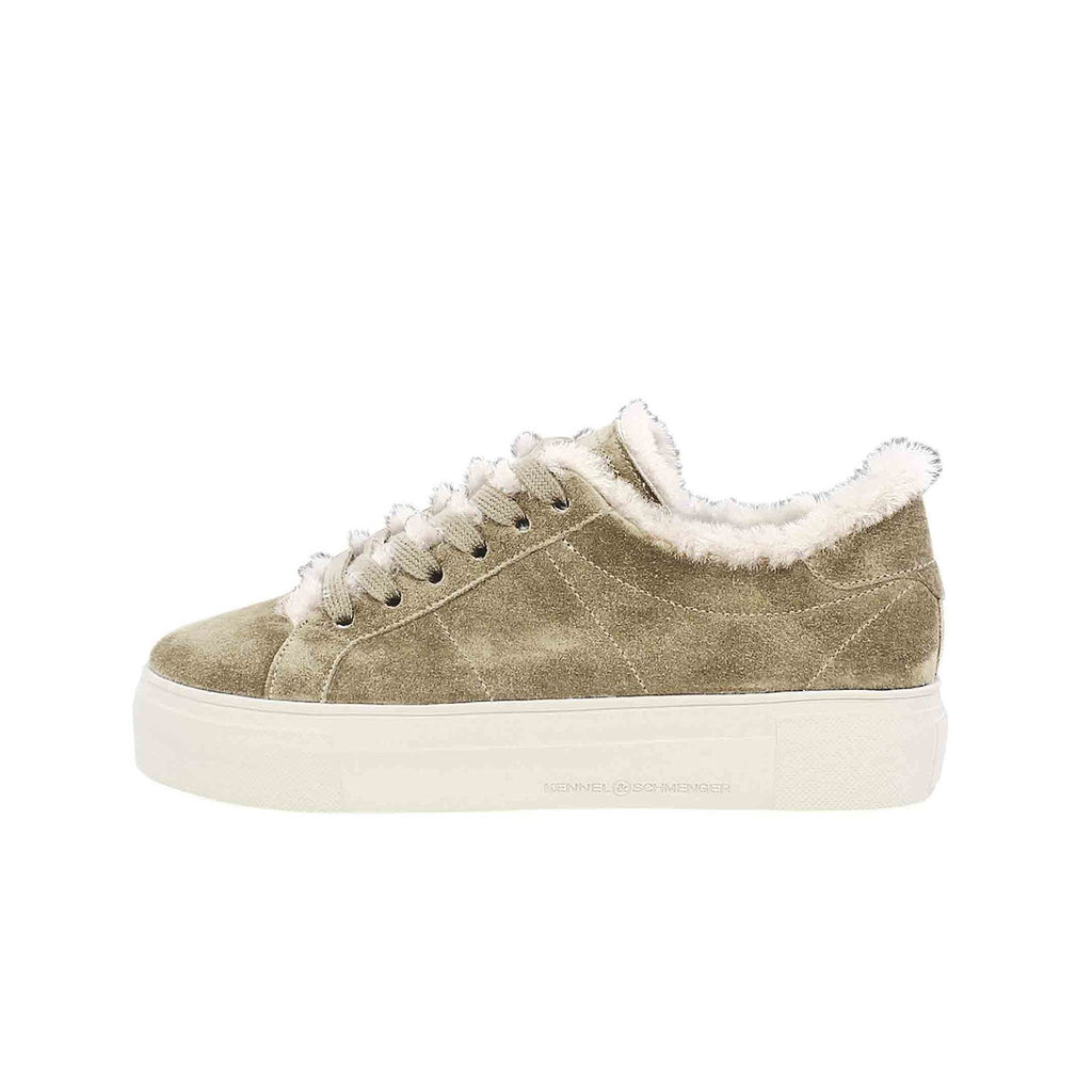 Suede Wool Taupe Sneakers