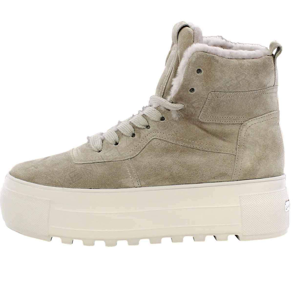 Suede Wool High Sneakers