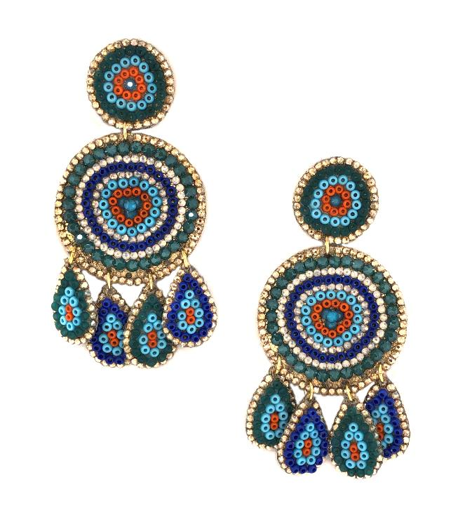 SALE Beaded Chandelier Earrings