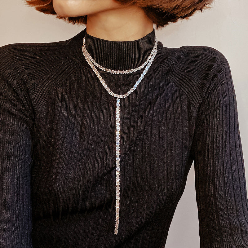 Baguette Choker Necklace