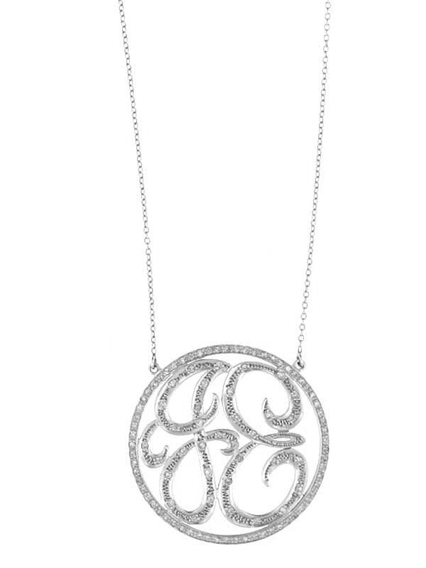 Diamond Monogram Circle Necklace
