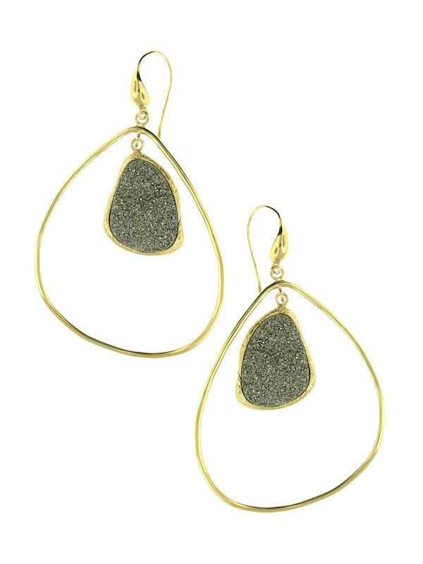 Geometric Druzy Earrings