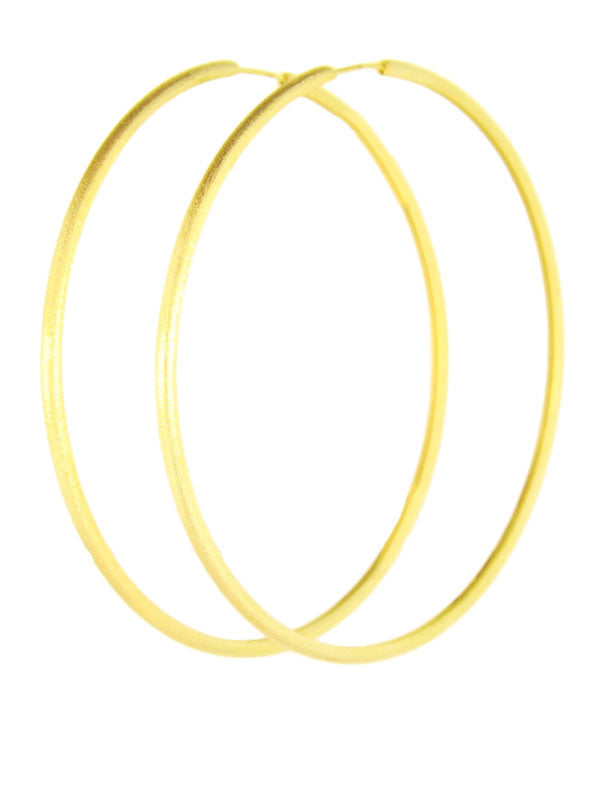Large Brushed Hoop