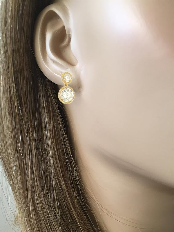 Large Double Drop Earrings