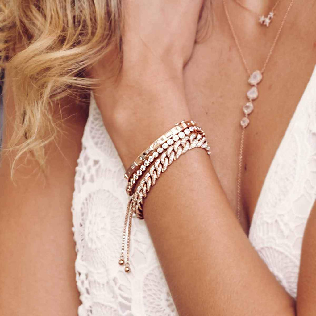 Diamond Link Statement Bracelet